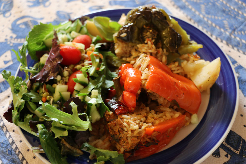 Fresh, organic, vegetarian food prepared daily.