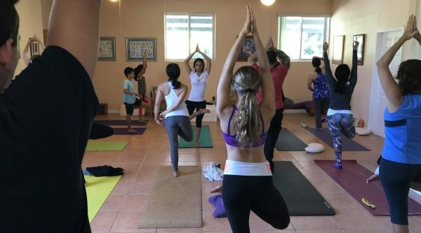 Sangita teaching Sampoorna Hatha Yoga Class