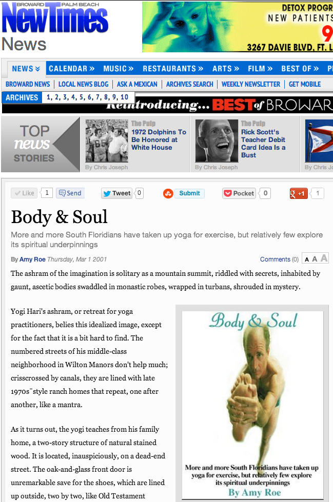 Body Soul Page 1 News Fort Lauderdale and Palm Beach New Times Broward Palm Beach_part1