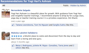 Facebook: Ashram for Satsang classes & training in Miramar, FL