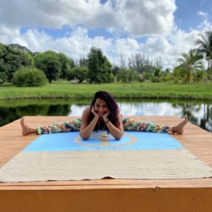 Lisa at Yogi Hari's Ashram during her 200-hour Sampoorna Yoga Teacher Training Course, December 2019